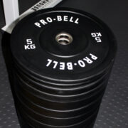 150Kg Pro Bell Rubber Bumper Plates Stack