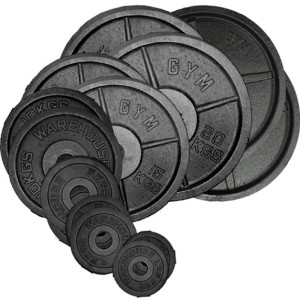 Cast Olympic Plate Set - 157.5Kg