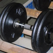 Double Collars and Ergo Handle Welded Dumbbell