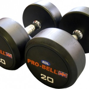 Pro-Bell RDL Rubber Dumbbells Gymwarehouse