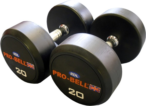 Pro-Bell RDL Rubber Dumbbells Gymwarehouse