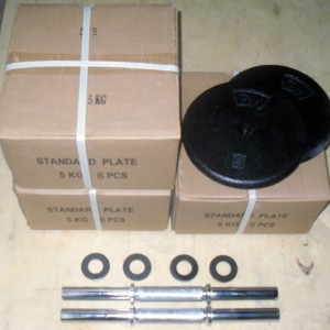 Welded Steel Plate Dumbbells