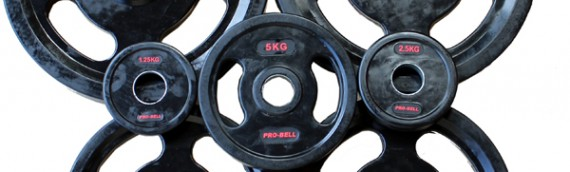 Quad grip Olympic Plates for functional training.